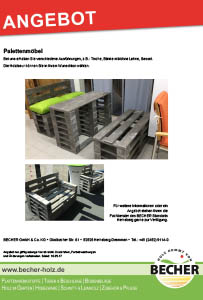 BECHER Holzhandel Heinsberg Palettenmöbel