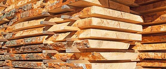 Schnittholz unbesäumt