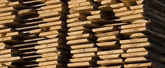 Schnittholz besäumt