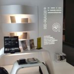 imm cologne HI-MACS®Stand mit Musterkoffer