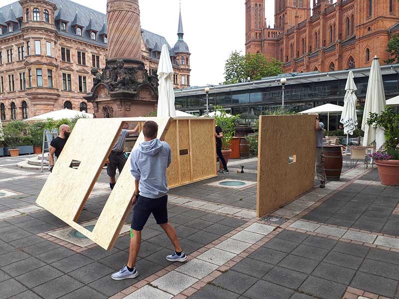 Kunstprojekt @home IFB-Stiftung mit BECHER