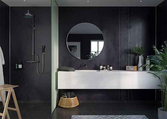 Badezimmer Fibo Wandpaneele