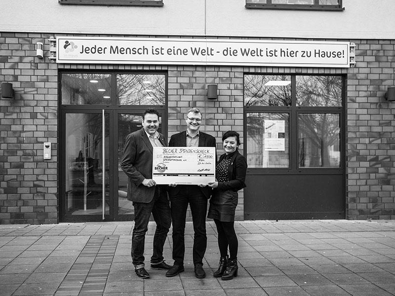 BECHER unterstützt In-Haus Köln