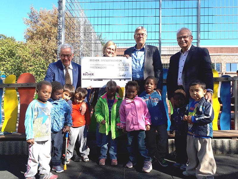 Spendenübergabe Friedensdorf Oberhausen