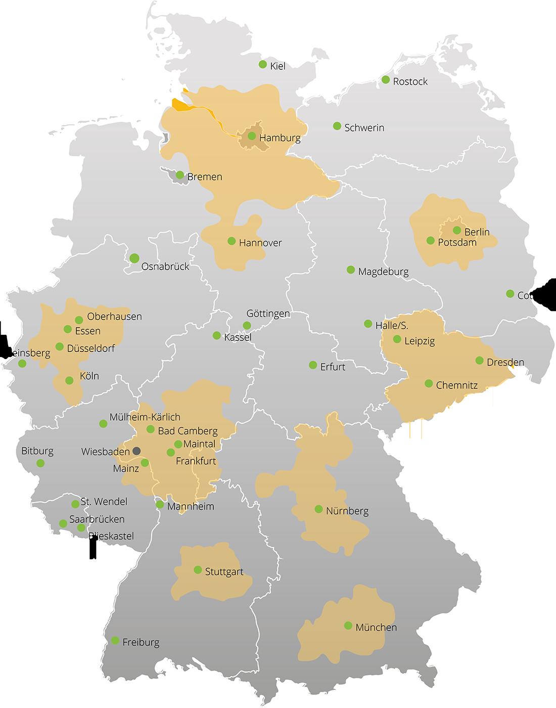 BECHER InoArt Standortkarte
