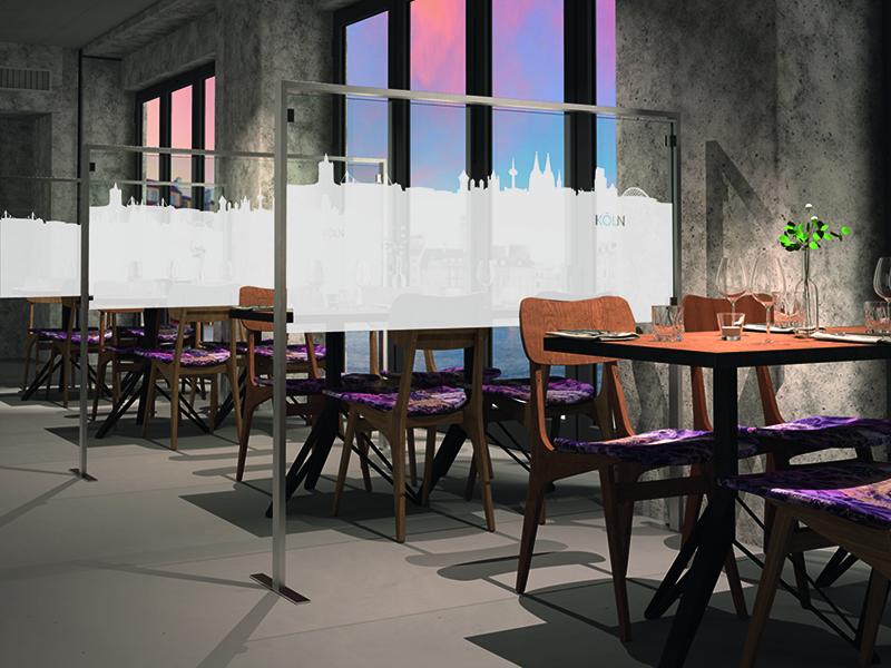 Restaurant Raumteiler mit Motiv