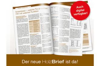 HolzBrief 01/2020 - Innentüren