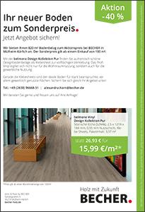 Flyer belmono Bodenaktion BECHER Mülheim-Kärlich