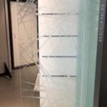 Erkelenz Glastür Modell Brush 3 Premio Beschichtung