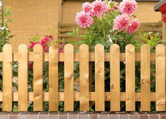 Vorgartenzaun aus Holz