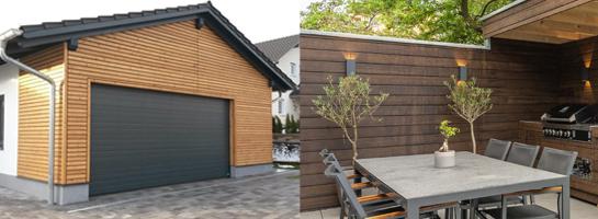 Fassade aus Easy Rhombus/Bambus