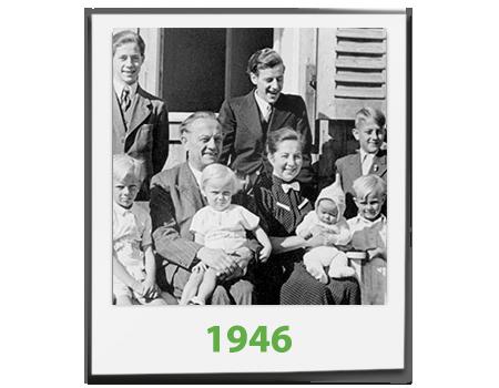 Ein Bildausschnitt der Familie Becher aus dem Jahr 1946